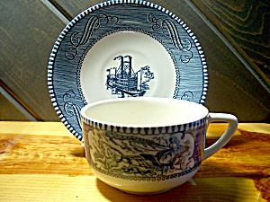 Currier & Ives Cup/saucer Set