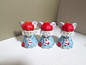 L'il Charmers Matching Mice Hanging Bell Set