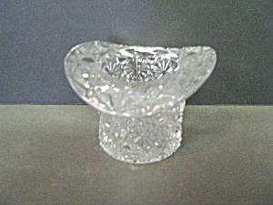 Fenton Clear Daisy & Button Hat