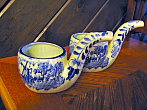 Delft Blue Windmill Pipe Planter