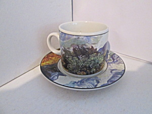Vincent Meadow Sky Flat Demitasse Cup & Saucer Set