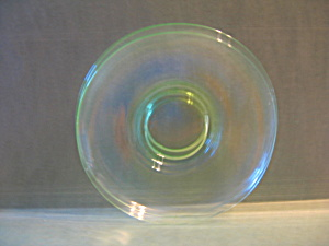 "Vintage Clear Green Depression Glass 5.5"" Saucer"