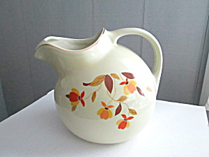 Vintage Hall Jewel Tea Autumn Leaf Large Ball Jug