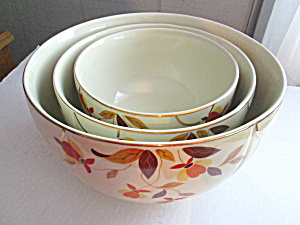 Vintage Hall Autumn Leaf Mixing Radiance Bowl Set