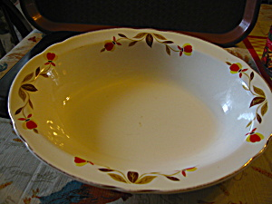 Vintage Hall Jewel Tea Autumn Leaf Serving Dish