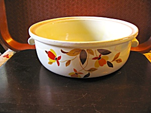 Vintage Hall Autumn Leaf Jewel Tea Vegetable Dish