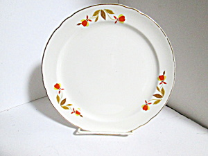 Vintage Hall Jewel Tea Autumn Leaf Salad Plate