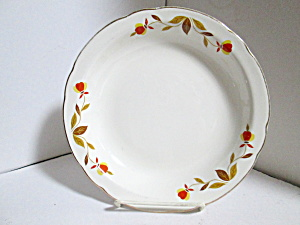 Vintage Hall Autumn Leaf Jewel Tea Rimmed Soup Bowl