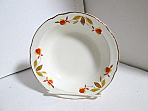 Vintage Hall Jewel Tea Autumn Leaf Sauce Dish