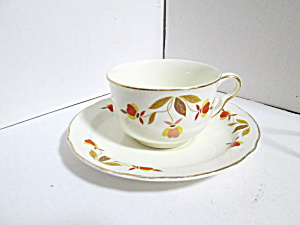 Vintage Hall Jewel Tea Autumn Leaf Cup And Saucer Set