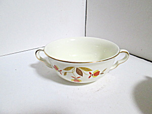 Vintage Hall Jewel Tea Autumn Leaf Cream Soup Bowl
