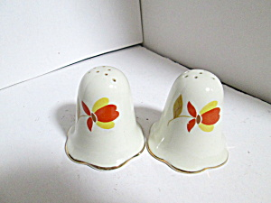 Vintage Hall Jewel Tea Autumn Leaf Salt/ Pepper Set