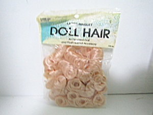 Vintage Large Ringlet Doll Hair Blonde