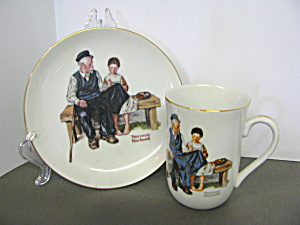 Norman Rockwell Mug&plate Lighthouse Keeper's Daughter