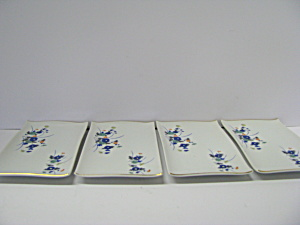 Japanese Blue Floral Oriental Sushi Dishes