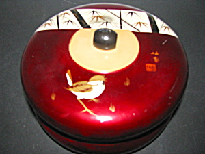 Vintage Japanese Lacquered Covered Dish