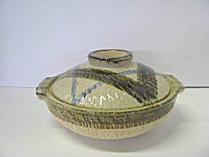 Vintage Oriental Pottery Japanese Cooking Pot