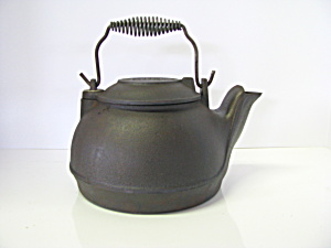 Vintage Cast Iron Hanging Or Stovetop Kettle