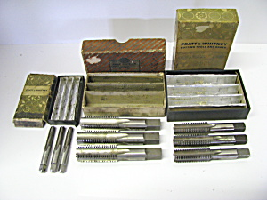 Vintage Pratt & Whitney Cutting Tools And Gages Sets