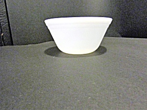 Federal Glass Heavy White Bowl
