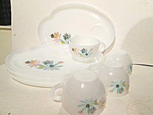 Vintage Aromic Flower Patio Snack Set