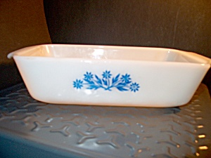 Vintage Fire King Cornflower Loaf Pan