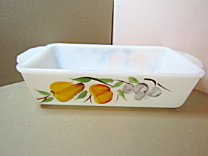 Vintage Fire King Gayfad Fruit Loaf Pan