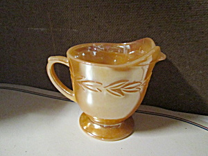 Fire King Peach Lusterware Creamer