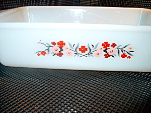 Vintage Fire King Primrose Loaf Pan