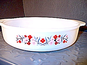 Vintage Fire King Primrose 8 In. Cake Pan