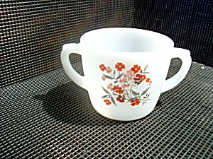 Vintage Fire King Primrose Open Sugar Bowl