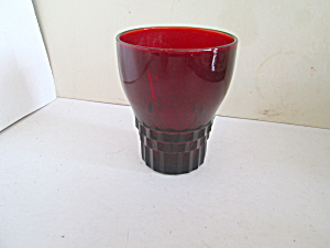 Vintage Ruby Red Drinking Glass