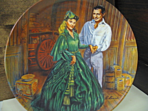 Gone With The Wind Plate Scarlett's Green Dress