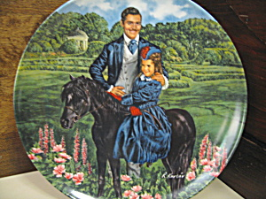 Gone With The Wind Plate Bonnie And Rhett