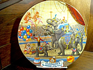 Elephants The Greatest Show On Earth Plate