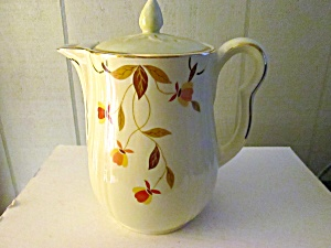 Vintage Hall Jewel Tea Autumn Leaf Coffee Pot