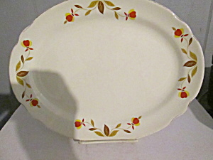 Vintage Hall Jewel Tea Autumn Leaf Large Platter