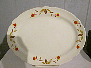 Vintage Hall Jewel Tea Autumn Leaf Small Platter