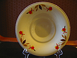 Vintage Hall Jewel Tea Autumn Leaf Under Plate