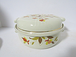 Hall Jewel Tea Autumn Leaf Covered Vegetable Bowl