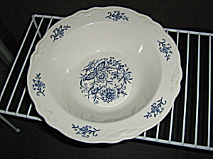 Homer Laughlin Imperial Blue Round Serving Bowl