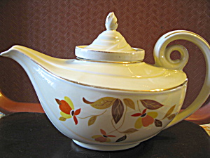 Vintage Hall Jewel Tea Autumn Leaf Aladdin Tea Pot