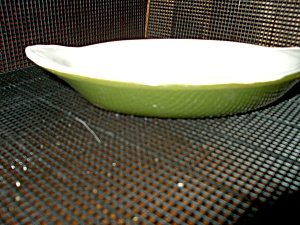 Hall Heavy Green Au Gratin Dish