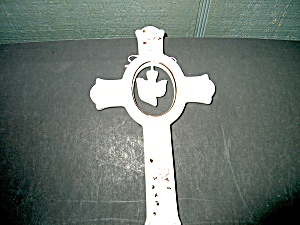 Inspirational White Glass Cross