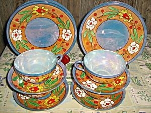 Lusterware 12 Piece Cake Set