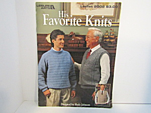 Leisure Arts His Favorite Knits #2002
