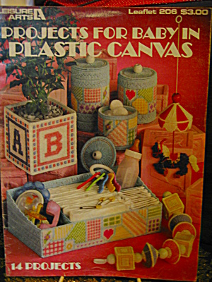 Leisure Arts Projects For Baby In Plastic Canvas #206