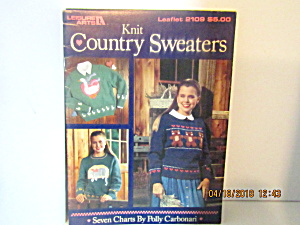 Leisure Arts Knit Country Sweaters #2109