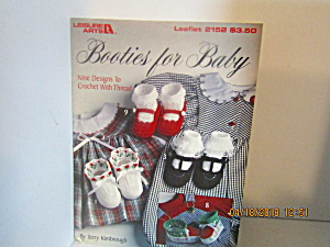 Leisure Arts Booties For Baby #2152
