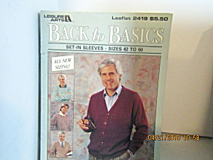 Leisure Arts Back To Basic Set-in-sleeves 42-50 #2419